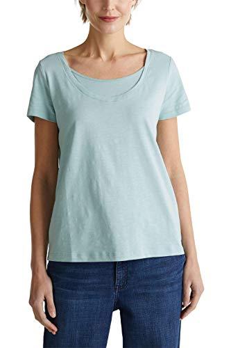 ESPRIT Damen 040EE1K316 T-Shirt, 393/LIGHT Aqua Green 4, S