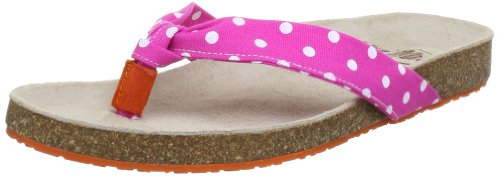 Adelheid Damen Glücksgefühle Sommersandale Pantoletten, Pink (Fuchsia Weiss gepunktet 710), 41