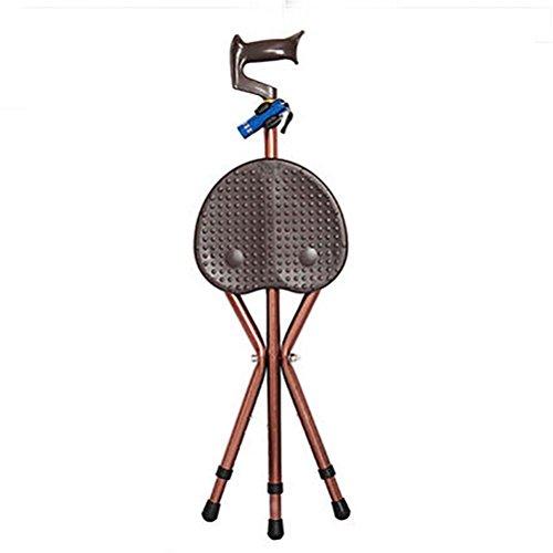 YAO wandelstok met zitting, 2-in-1 opklapbare wandelstok, verstelbare klapstoel.