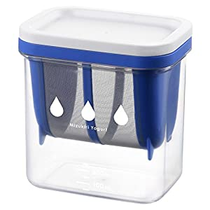 曙産業 水切り ヨーグルトメーカー 日本製 ヨーグルトの水切りが簡単にできる 固さの目安になる目盛付き 市販のヨーグルト1パックが丸ごと入る 水切りヨーグルトができる容器 ST-3000
