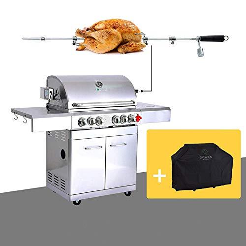 GREADEN - Barbecue a gas in acciaio inox, 4...