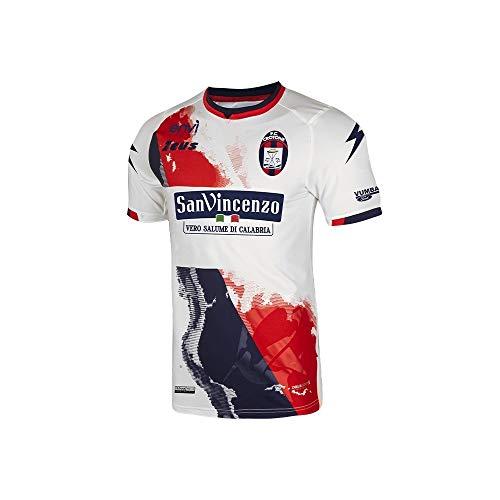 Zeus Maglia Originale CROTONE Calcio Away Bianco Rosso Blu 2020/2021 Serie A Taglia Small