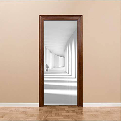 ZPCR Pegatinas de Puerta 3D Creativas PVC Impermeable Escalera Puerta renovación Mural Autoadhesivo impresión imágenes DIY decoración del hogar calcomanía