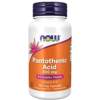 NOW Supplements, Pantothenic Acid (Vitamin B-5) 500 mg, B-Complex Vitamin, 100 Capsules