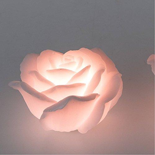 formano LED Deko Kerze Rose mit Timer D. 10cm H. 7cm rosa