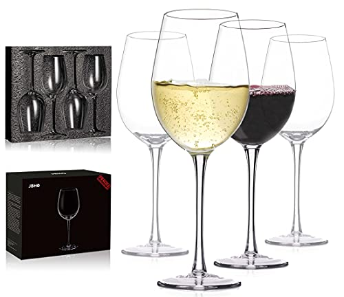Hand Blown Italian Style Crystal White or Red Wine Glasses - Gift Packaging...
