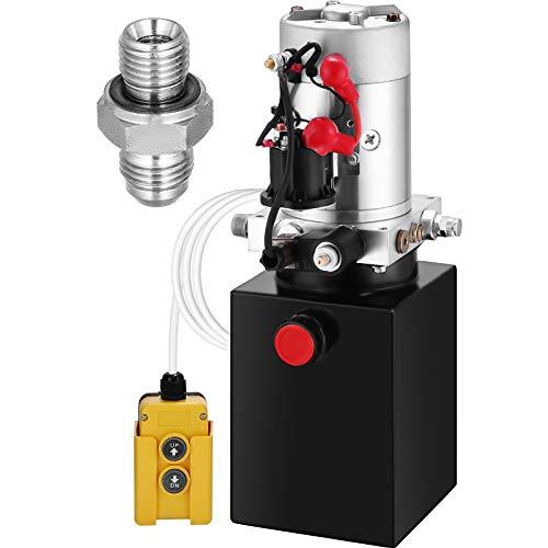 ZauberLu 12V/DC Hydraulikpumpe Einfachwirkend Kipperpumpe Hydraulikaggregat (4L)