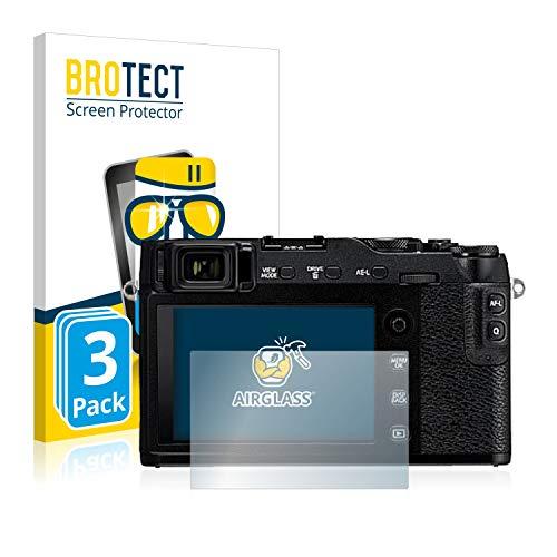 BROTECT Panzerglas Schutzfolie kompatibel mit Fujifilm X-E3 (3 Stück) - AirGlass, extrem Kratzfest, Anti-Fingerprint, Ultra-transparent