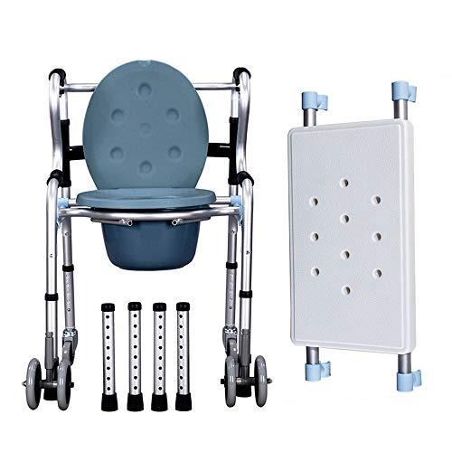 MYYLY rolstoelen rolstoel rolstoel met zittende rolstoel met wiel met armleuning opvouwbare douchestoel, vrij om te schakelen toilet/zit/wiel, in hoogte verstelbaar (Maat: Walker4)