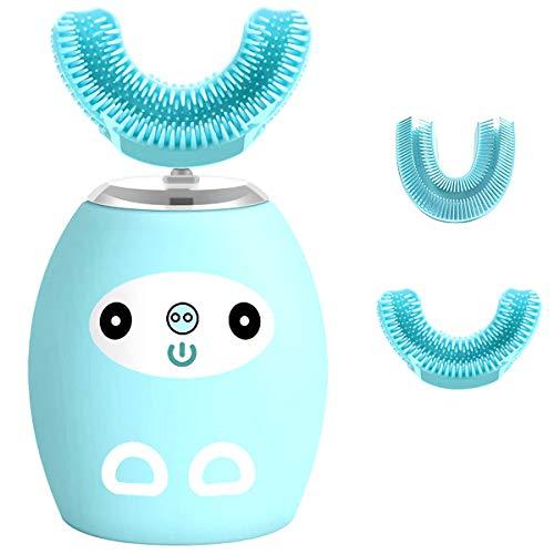 QIDIAN Cepillo de Dientes eléctricos para niños con 3 Modos, cepillos de Cepillo Recargable inalámbrico, IPX8 Impermeable, Cepillo automático Especialmente diseñado para niños