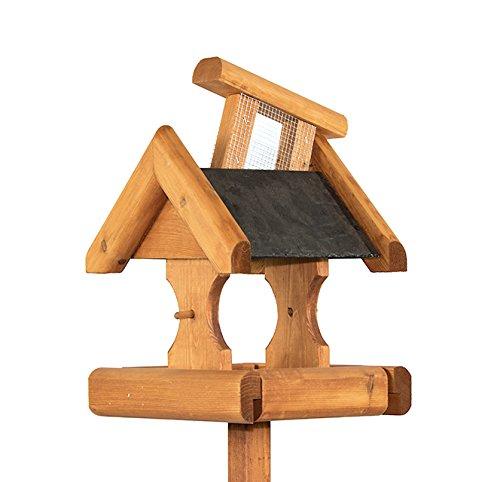 Riverside Woodcraft Verwood Slate Roof Bird Table With Anti Bacteria Coating
