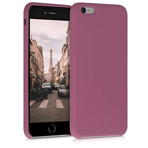 kwmobile Cover Compatibile con Apple iPhone 6 Plus / 6S Plus - Custodia in Silicone TPU - Back Case Protezione Cellulare Cipria Scuro