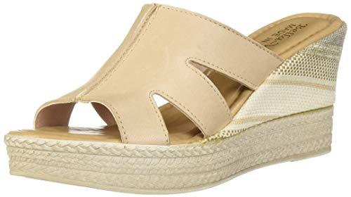 Bella Vita Women's Rox-Italy Slide Sandal Shoe, Blush Italian Leather, 6.5 N US