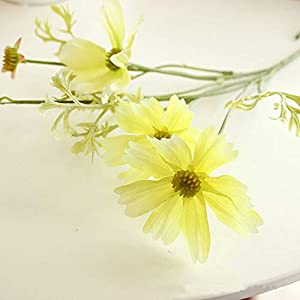 Artificial and Dried Flower 60cm 3 Fork Artificial Cosmos Flower Fake Floral Bouquet Silk Faux Flowers Handmade Plants for Home Garden Wedding Decoration