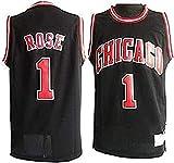 DFGHU Camiseta de baloncesto para hombre, manga corta, secado rápido y transpirable, color negro, negro, S
