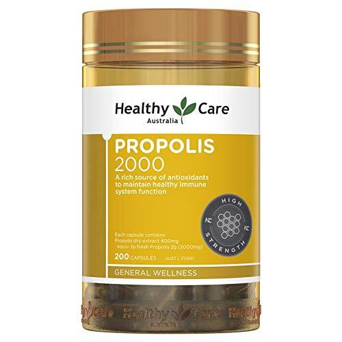 Healthy Care Propolis 2000mg 200 Capsules (Australia Import)