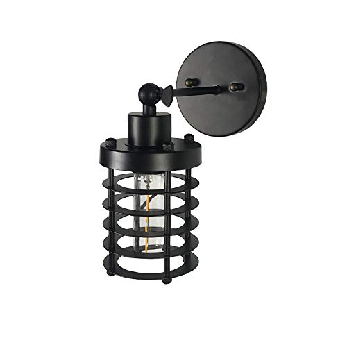 Wire Cage Wall Sconce Black Metal Industrial Wall Light Shade Vintage Style Edison Rustic Wall Light Fixture E27 Base