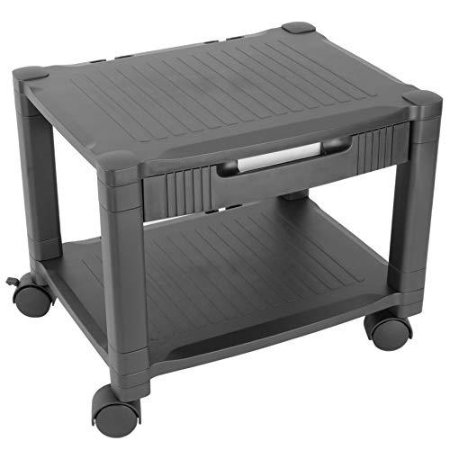 primematik–tavolino per stampante carrello con ruote con passacavi (ag062)