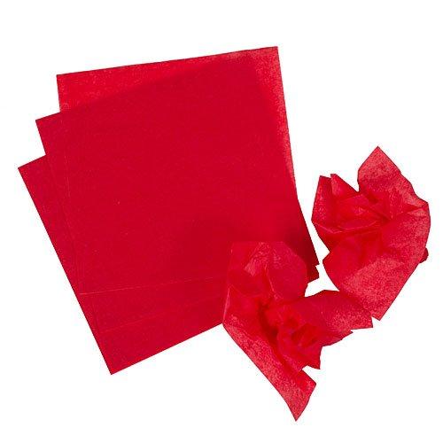Red Pomps Tissue Squares