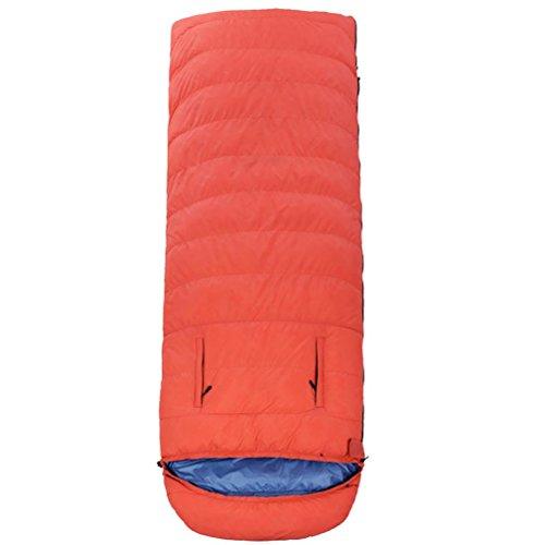 Enveloppe fuite main Duck down sac de couchage en plein air adulte Garder l'équipement chaud (Duck down 1000g-2500g) en nylon tissu , orange , 1800g