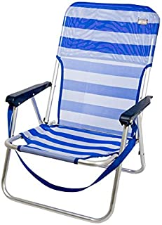 comprar comparacion Aktive 53950 - Silla plegable fija aluminio 55 x 55 x 70 cm - marinera