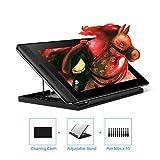 huion kamvas pro 12, tablettes graphiques avec écran,niveaux 8192 pression stylo sans batterie avec fonction d'inclinaison avec 4 touches express et barre tactile (kamvas pro 12 (11,6 pouces))