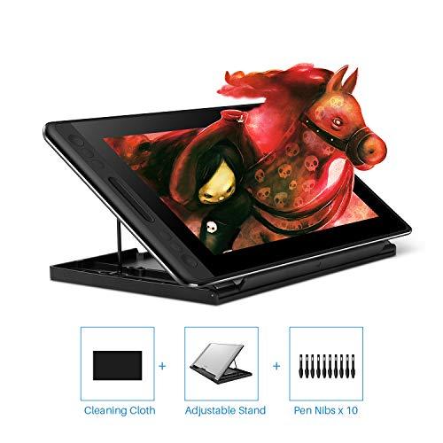 Huion KAMVAS Pro 12 tekentablet met scherm Grafische tekenmonitor Volledig gelamineerd pendisplay met batterijloze pen en verstelbare standaard 8192 Pendruk (GT-116)