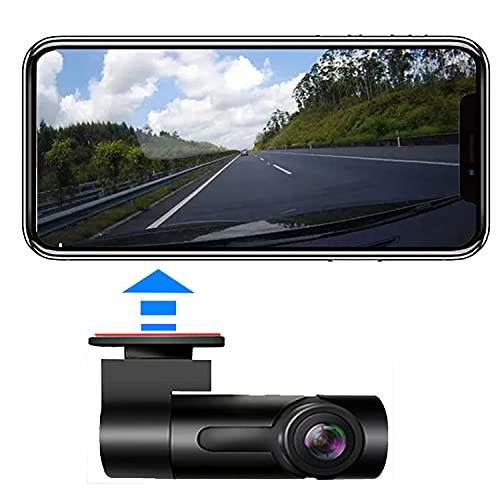 Dash Camera for Car Mini Dash Cam with Phone App, Wireless Security Dashcam Low Power Consumption Night Vision WDR G-Sensor Parking Monitor Loop Recording