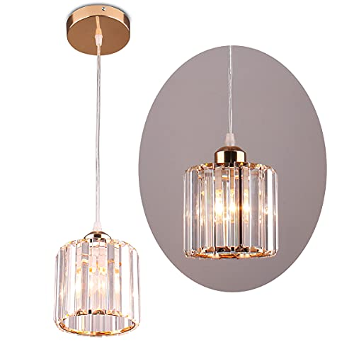 Mini Lámpara Colgante Candelabros de Cristal, Iluminación Montaje Empotrado Accesorio de Iluminación de techo para Comedor Dormitorio...