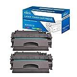 Fimpex Compatible Toner Cartucho Reemplazo para HP Laserjet P2050 P2055 P2055d P2055dn P2055x CE505X (Negro, 2-Pack)