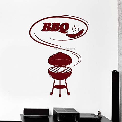 Geiqianjiumai Quote vinyl muursticker keuken voedsel barbecue vlees keuken sticker muurschildering restaurant romantische behang waterdicht behang