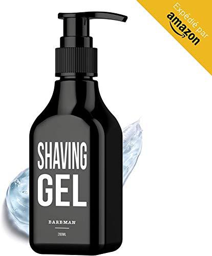 BarBMAN: Gel de afeitado transparente (200ml). Afeitado preciso de los contornos de tu barba (visibilidad, deslizamiento y protección máxima).