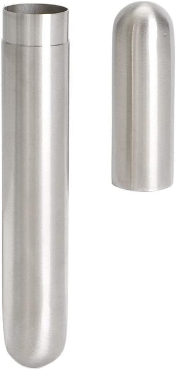 San Francisco Mall Zaraddia Stainless Steel Cigar Max 44% OFF Tube T Fine