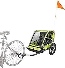 Allen Sports Hi-Viz 2-Child Bicycle Trailer, Model ET2-G, Green