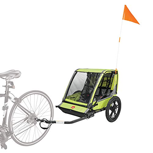 Allen Sports Hi-Viz 2-Child Bicycle Trailer, Model ET2-G, Green
