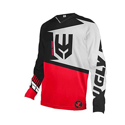 Uglyfrog Bike Wear MTB Designs Blocks Motocross/Downhill Jersey Lange Ärmel Frühling Trikot MX Enduro Offroad Gelände Quad Cross Erwachsene