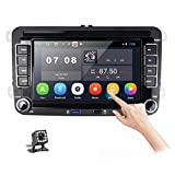 Android 10.0 Car Stereo GPS Navigation Headunit Car Radio for VW Golf Passat Tiguan Polo Jetta 7 Inch Touch Screen Autoradio with Bluetooth WiFi FM Radio Two USB Port + Rear View Camera