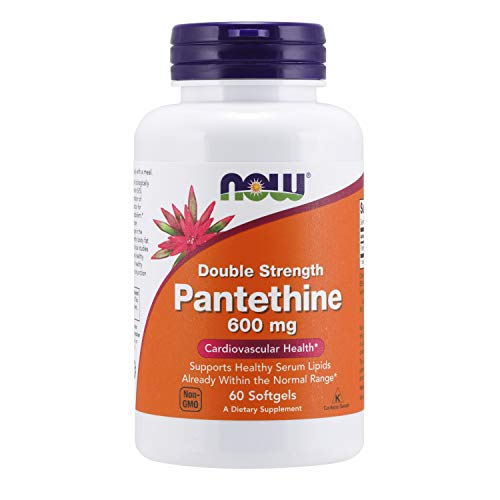 NOW Supplements, Pantethine (Coenzyme A Precursor) 600 mg, Double Strength, Cardiovascular Health*, 60 Softgels