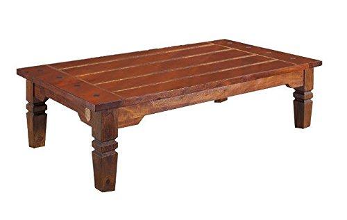 MASSIVMOEBEL24.DE Kolonialstil Couchtisch 135cm Akazie Holz massiv Oxford Geoffrey #429