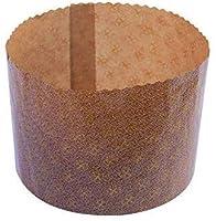 Pz 10 forma cottura panettone alto Stampo per panettoni diametro cm 15,5 Forma per cottura panettoni natalizi alta cm 11 Stampo per panettone alto da gr 750 Forma cottura in cartoncino da forno
