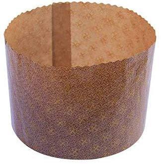Lucgel Srl (10 Stück) Backform für hohe Panette, 500 g, Backform aus Papier, vorgeformt, Durchmesser 134 mm, Höhe 95 mm) für süße Weihnachten, Handwerk, Pizza, süße Käse