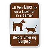 """SmartSign 18 x 12 inch """"All Pets Must Be On..."""