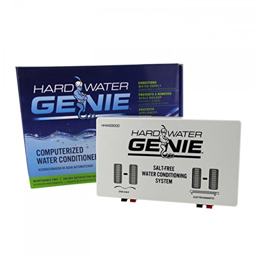 Hard Water Genie Salt-Free Treatment Conditioner, Water Softener and Descaler System