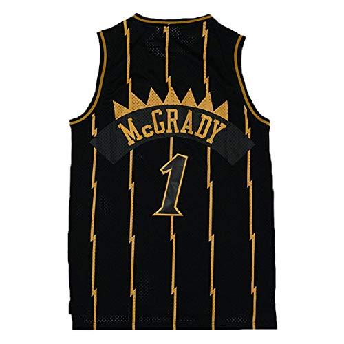 Mens Tracy Jersey Retro Basketball 1 Jerseys McGrady Jersey Black(S-XXL) (L)