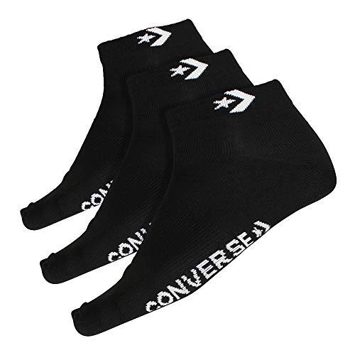 Converse Herren Socken 3-er Pack Star Chevron Logo Füßlinge schwarz, Größe:39-42 EU