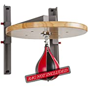 """XMark Adjustable Speed Bag Platform with 15"""" Height Adjustment and Constructed of Heavy Gauge Steel to Minimize Vibration and Optimize Rebound"""