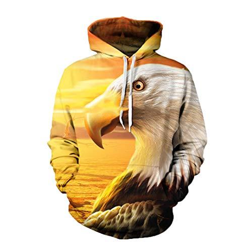 JSR-Hoodie Tops Fresco la Bandera Unisex Fresca Cerveza Vestimenta Suelta con Capucha Estados Unidos guila Capucha Hipster 8 S