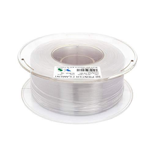 Filamentos de impresora,Fesjoy PETG Filamento Filamentos de la impresora 1.75 MM Precisión dimensional Alta tenacidad Impresión 3D Consumibles 1 KG Carrete Naturaleza