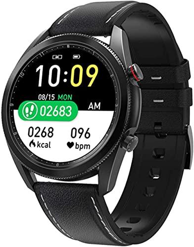 Reloj inteligente para hombre de negocios, resistente al agua, pantalla azul IPS para monitoreo de sueño, rastreador de fitness, reloj deportivo multifuncional-B