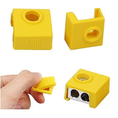 Druckerzubehör MK9 Silikon-Schutzhülle für Heizung, Aluminiumblock, 3D-Drucker, Hotend, 8 Stück